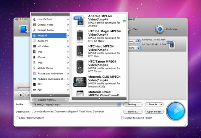 Bigasoft Total Video Converter for Mac