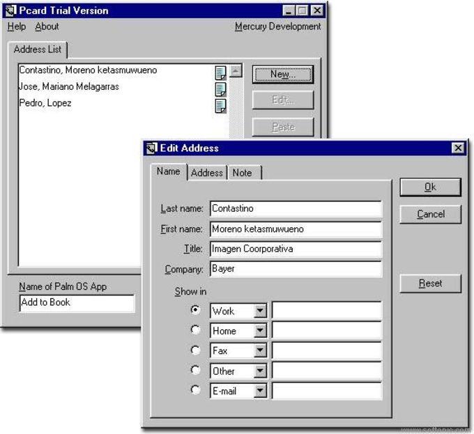 PalmCard Creator