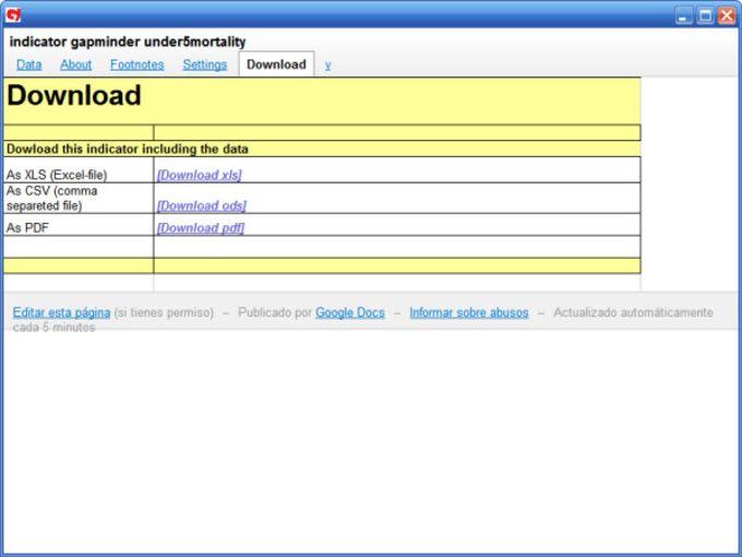 Gapminder Desktop