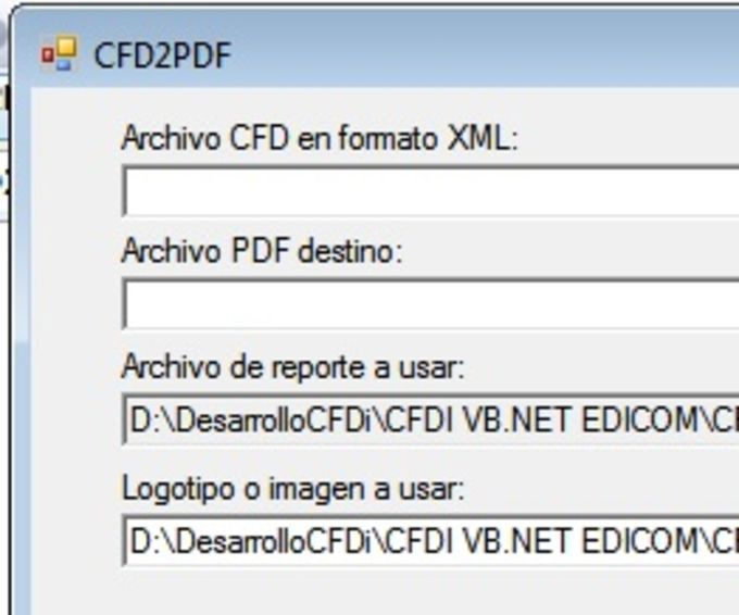 Convertidor XML a PDF CFDi