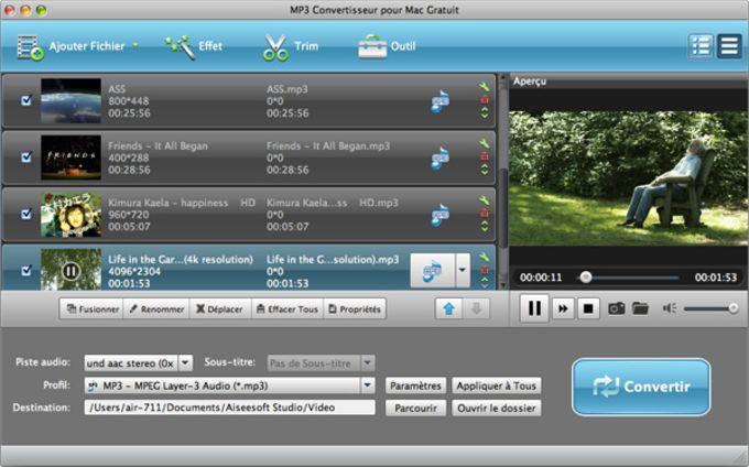 Aiseesoft MP3 Convertisseur pour Mac Gratuit