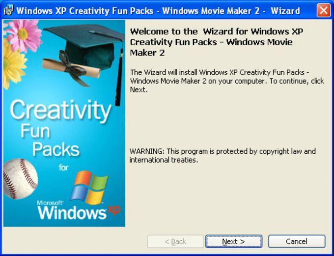 Windows Movie Maker 2 Creativity Fun Pack