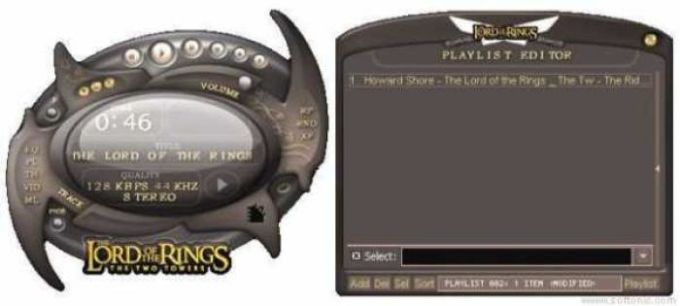 Lord of the Rings: The Two Towers Winamp Skin