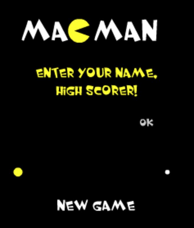 Mac Man Widget