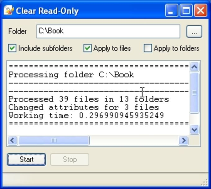 Clear Read-Only
