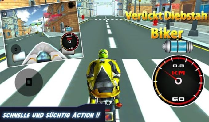 3D Crazy Theft Biker