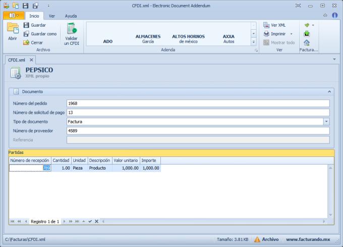Electronic Document Addendum (EDA)