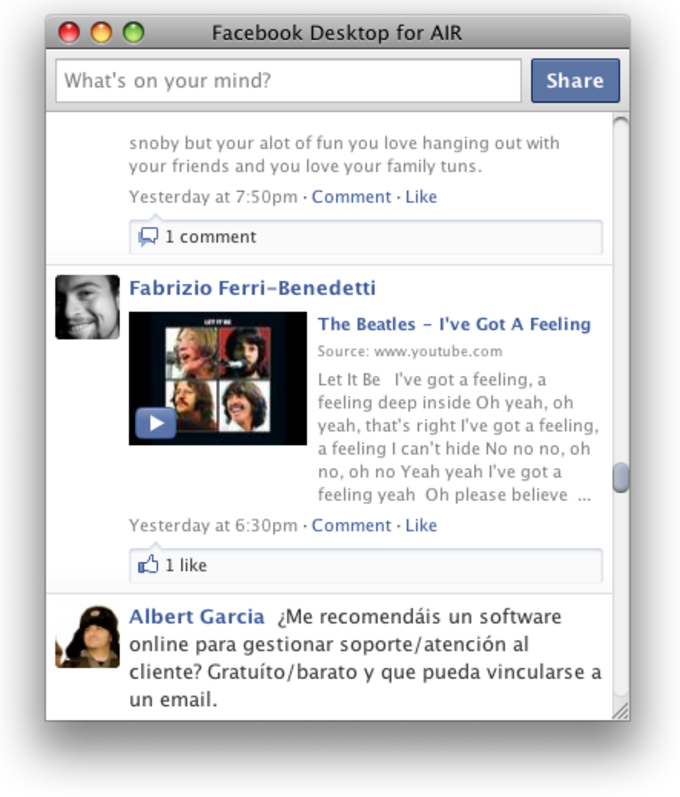 Facebook app for mac computer