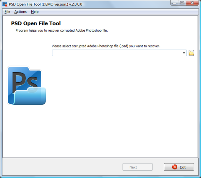 PSD Open File Tool