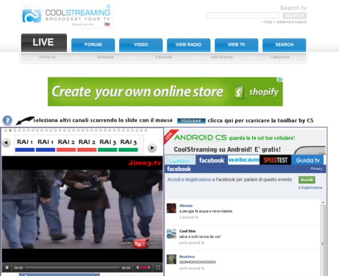 Coolstreaming WEB TV