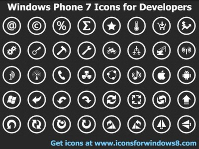 Windows Phone 7 Icons for Developers