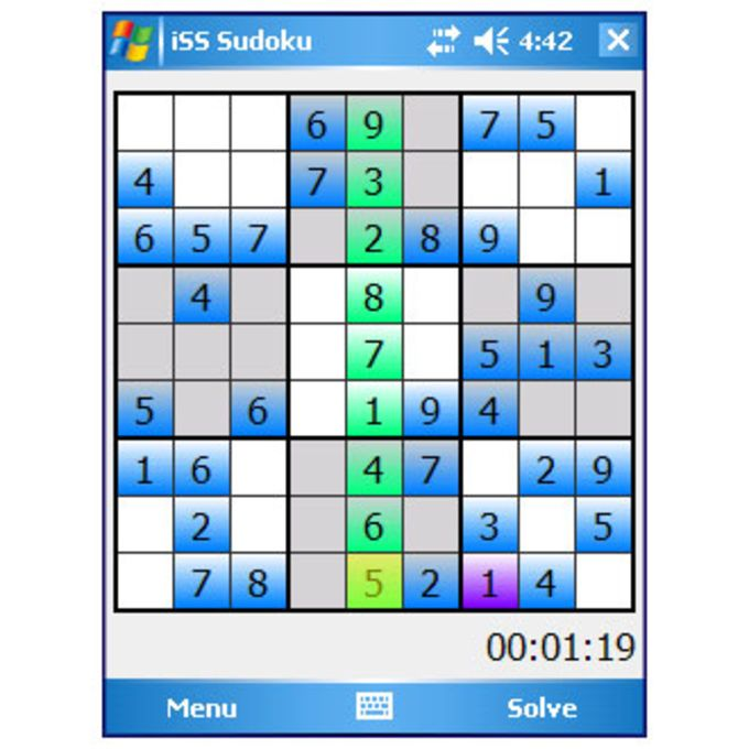Sudoku Implicit Software