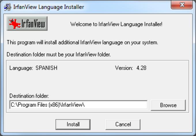 Traducción al español para IrfanView