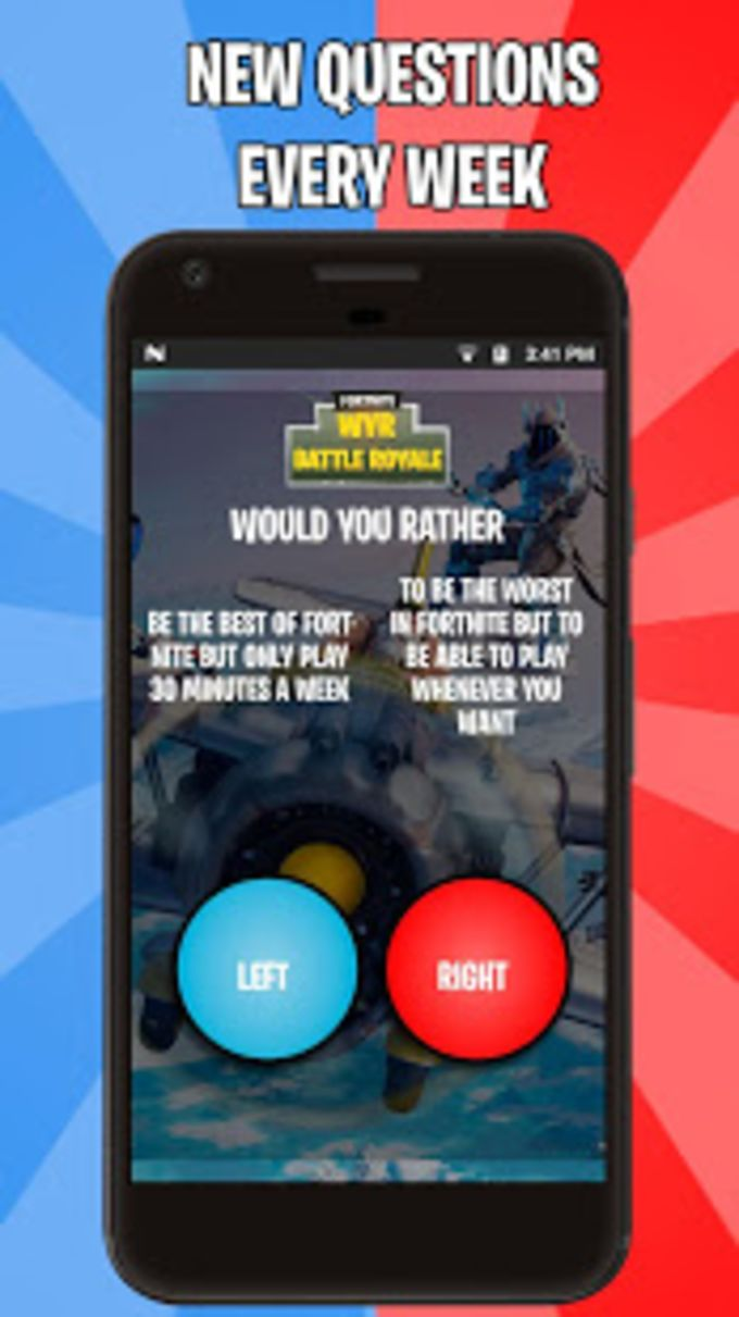Would you rather for Battle Royale FBR
