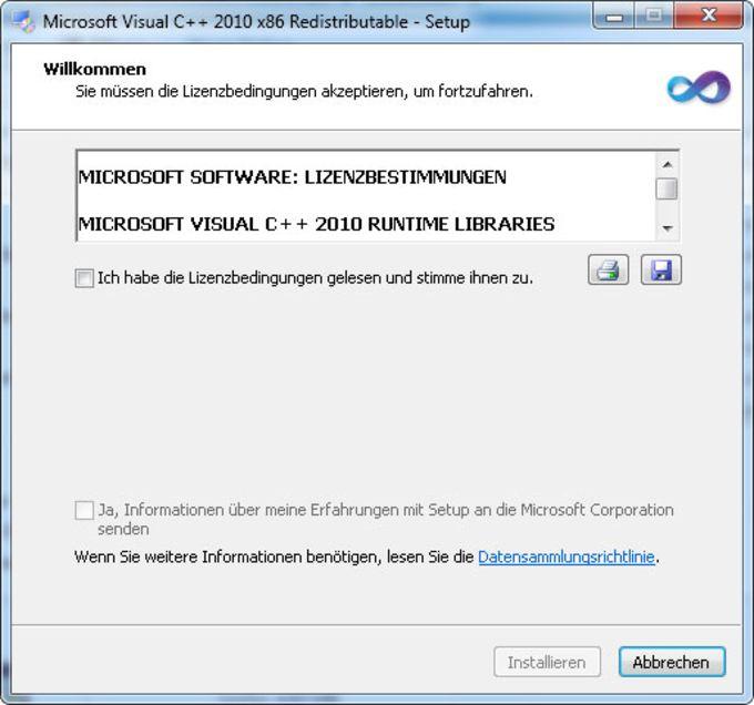 Microsoft Visual C++ 2010 Redistributable Package (x86)
