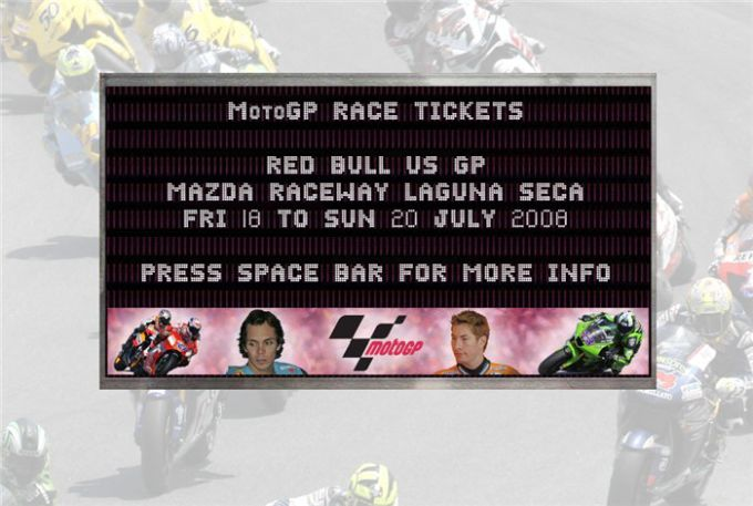 MotoGP 2008 Screensaver