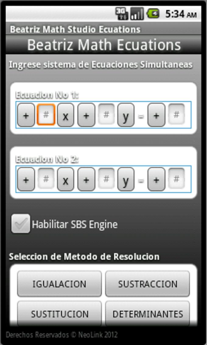Beatriz Math Studio Ecuations