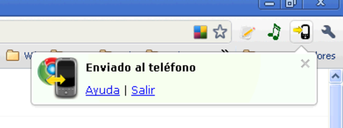 Google Chrome to Phone Extension