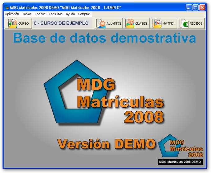 MDG-Matrículas