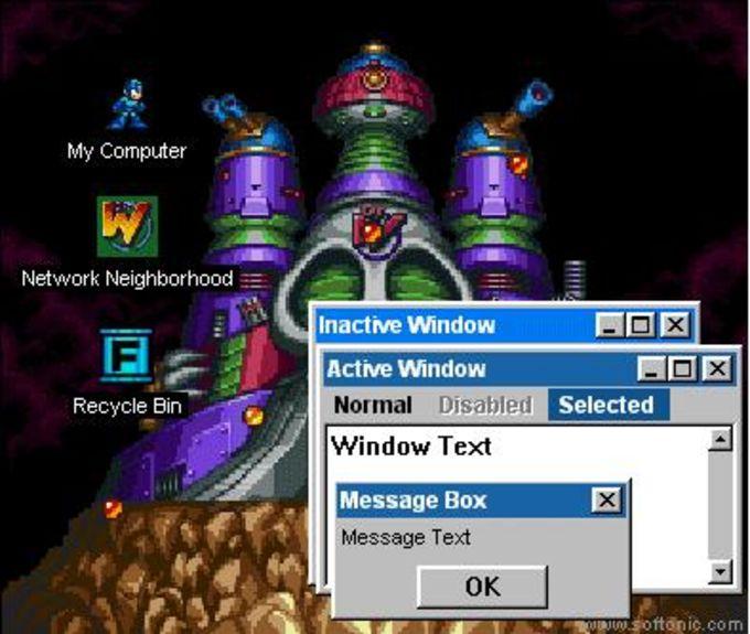 Megaman Desktop Theme
