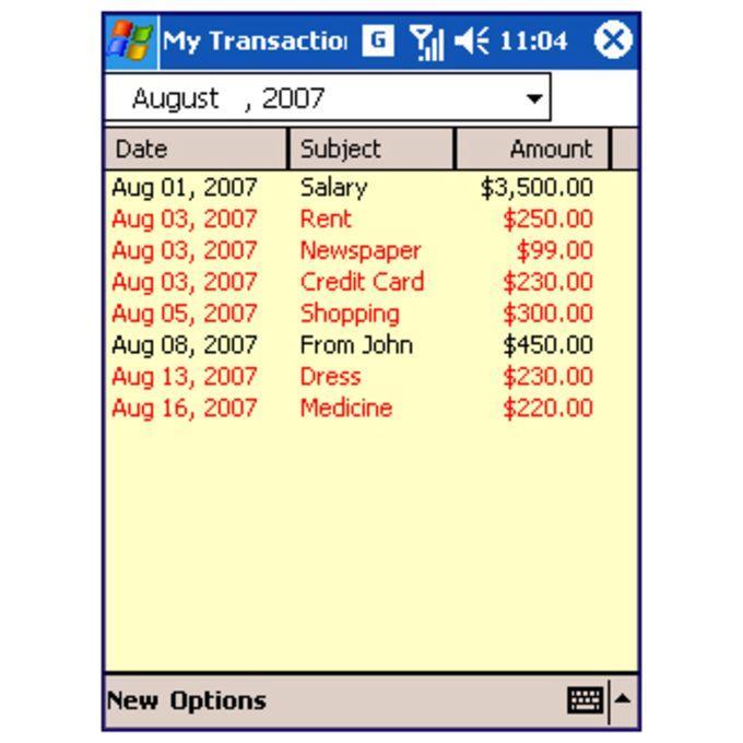 My Transactions