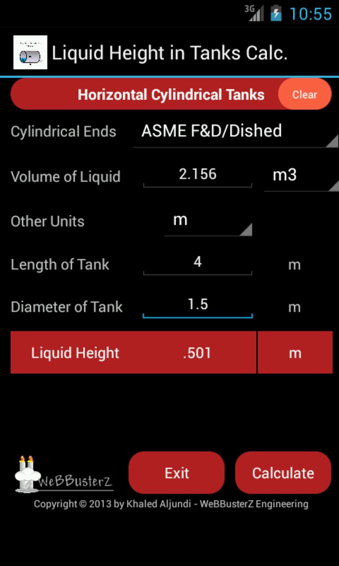Liquid Height in Tanks Free