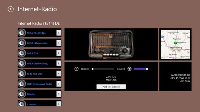 Internet-Radio for Windows 10