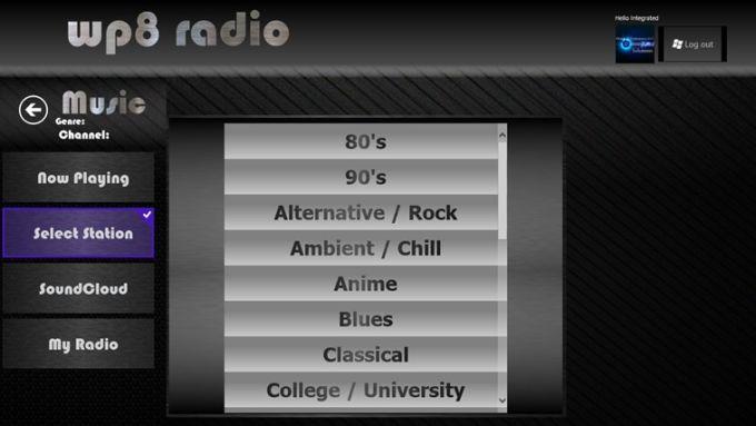 WP8 Radio for Windows 10