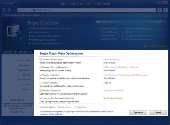 Advanced Vista Optimizer