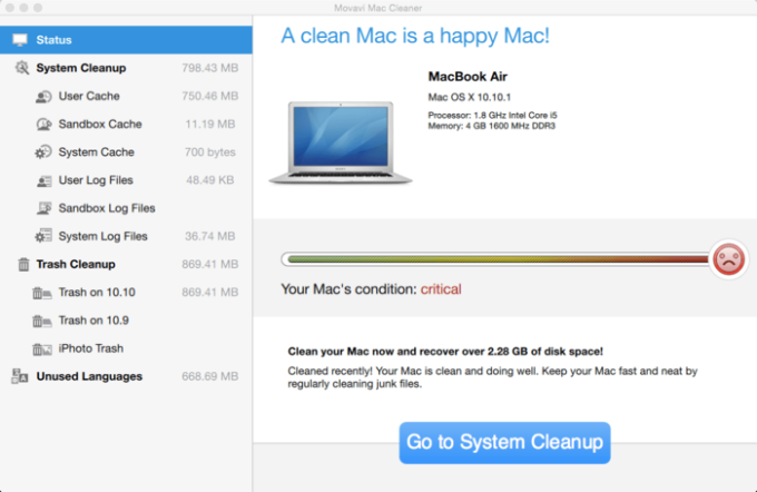 Movavi Mac Cleaner