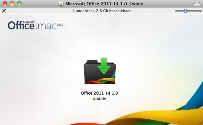 Microsoft Office voor Mac 2011 Service Pack 1
