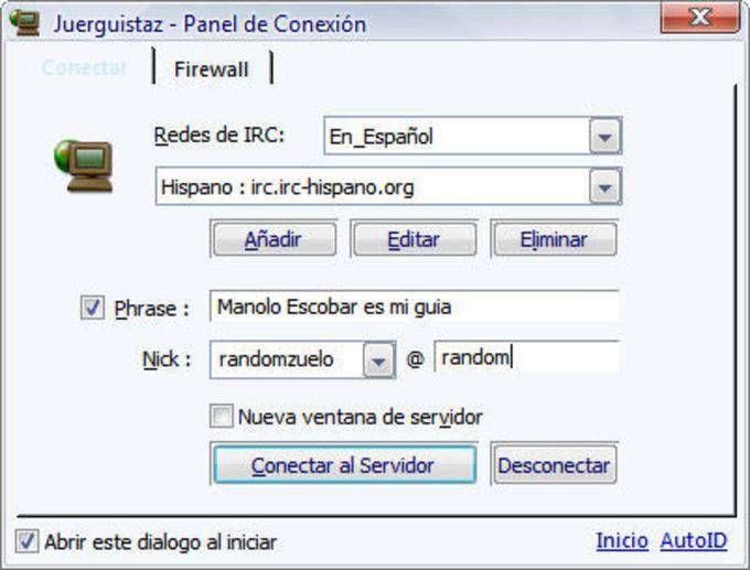 Juerguistaz mIRC script