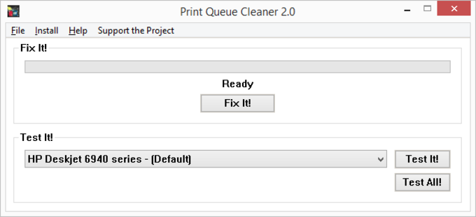 Print Queue Cleaner Portable