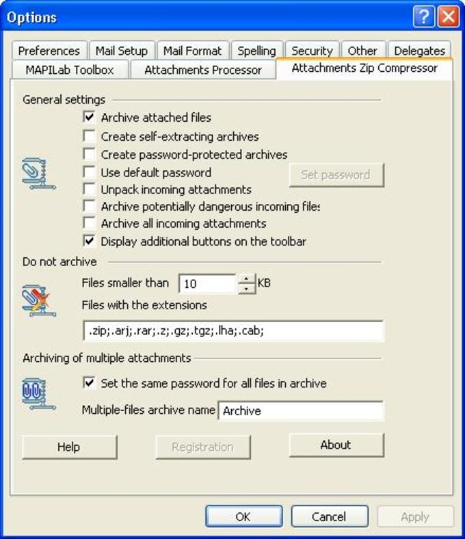 MAPILab Toolbox for Outlook