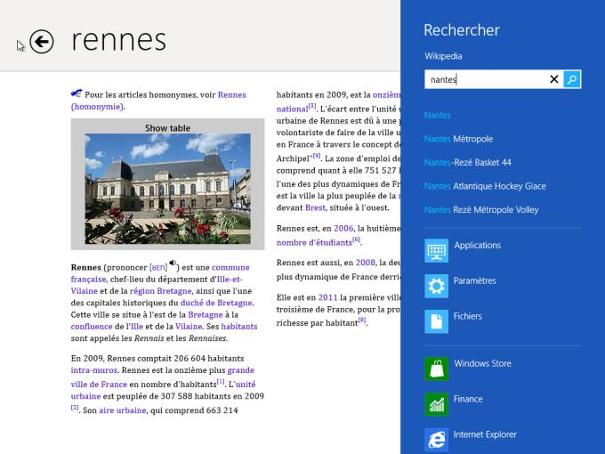Wikipedia pour Windows 10