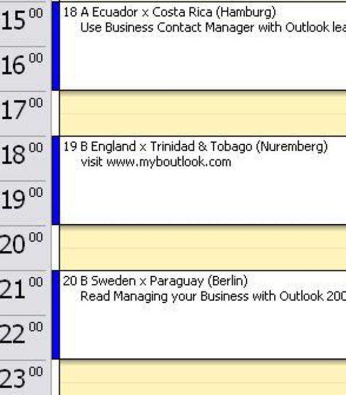 World Cup 2006 Outlook Calendar