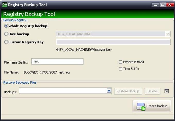 Registry Tweaker