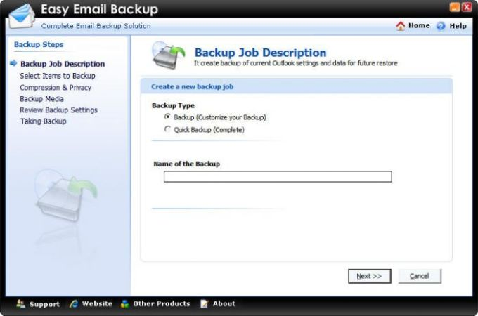Easy Email Backup
