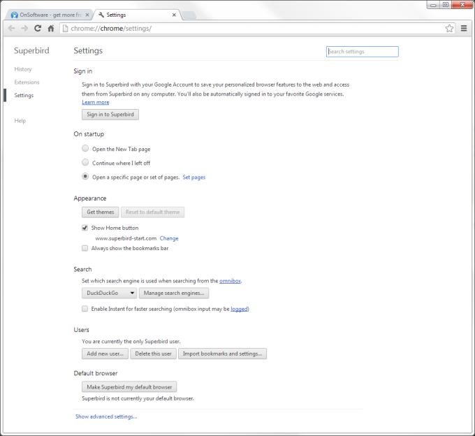 Superbird Browser