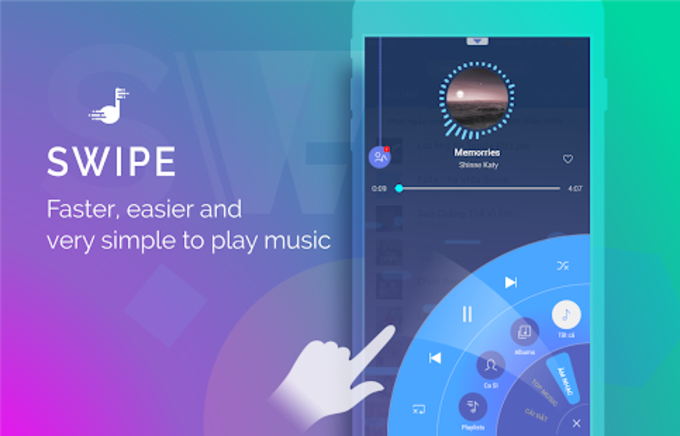 iPlay Music  Swipe Music Player Quick Mp3 Player