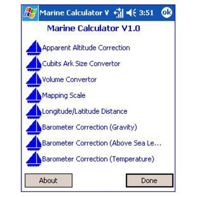 Marine Calculator