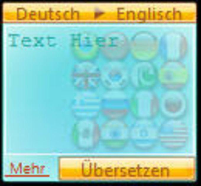Sprache Übersetzer Gadget
