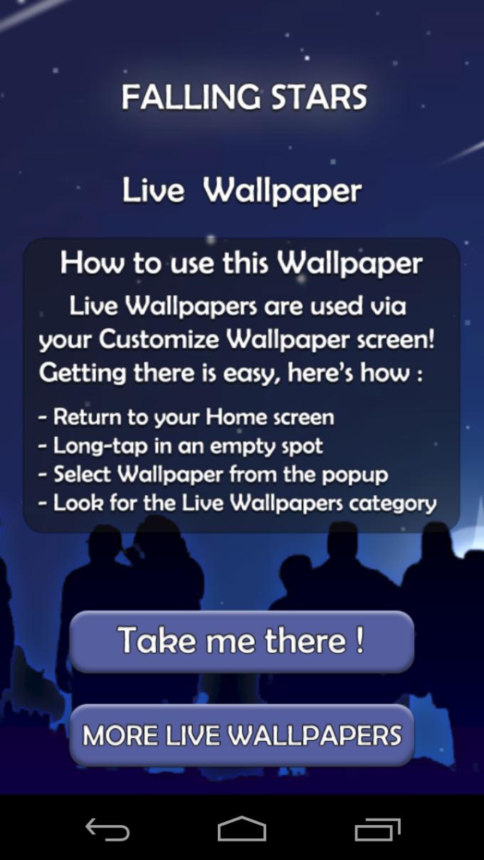 Falling Star 3D Live Wallpaper
