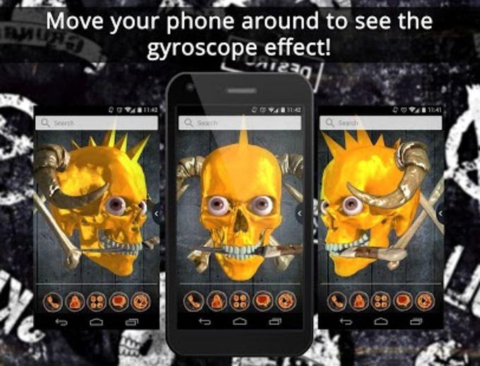 UR 3D Live Fire Skull Theme