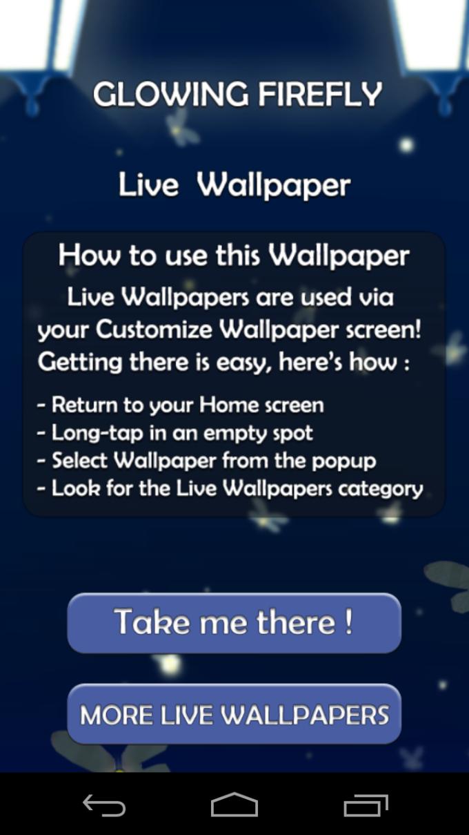Glowing Firefly Live Wallpaper