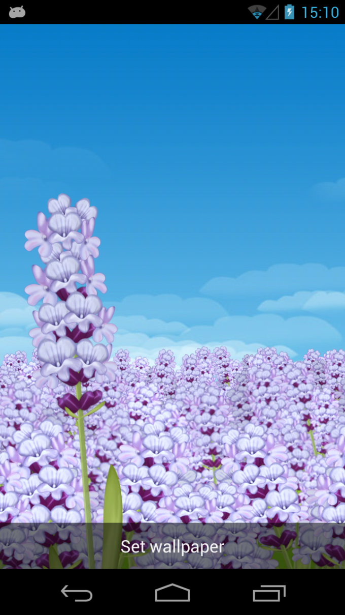Lavender Field Live Wallpaper