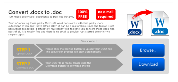 Convert docx to doc