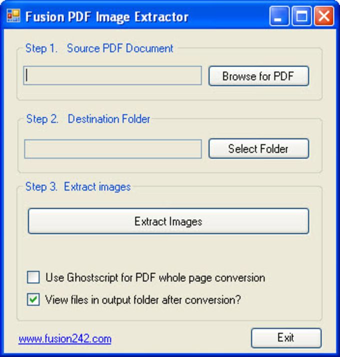 Fusion PDF Image Extractor
