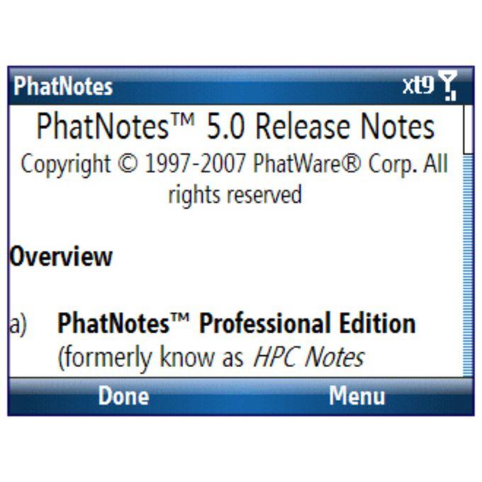 PhatNotes