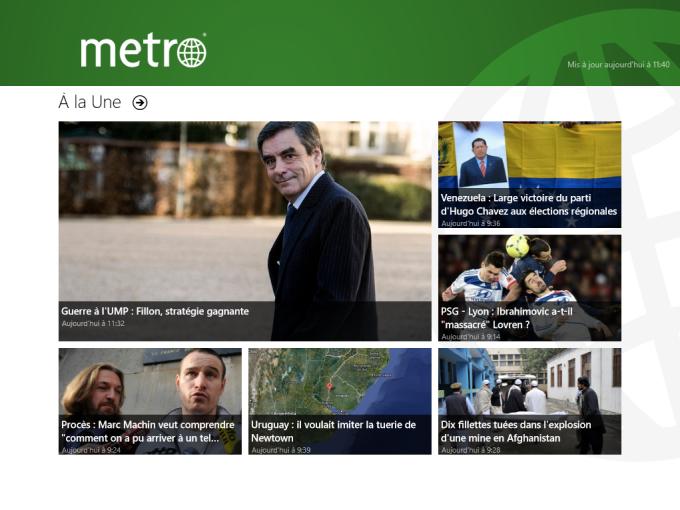 Metro France pour Windows 10